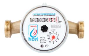 Счетчик воды ЭКО НОМ-15-110+КМЧ универсальный